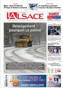 L'Alsace - Page Région (dim 8.01.17) - Déneigement : pourquoi ça patine #ALaUne #VH