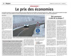 L'Alsace - Page Région (dim 8.01.17) - Le prix des économies #VH