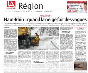 L'Alsace - Page Région (dim 8.01.17) - Haut-Rhin : quand la neige fait des vagues #VH