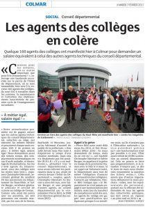 DNA - Edition Colmar Ried (07.02.17) - Les agents des collèges en colère #ATC